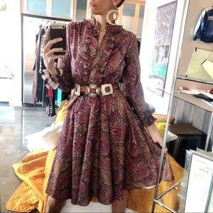 Vintage union made paisley print dress